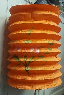 """14 Vintage Chinese Japanese Colorful Accordian  PAPER LANTERNS 12""""  Flowers"""