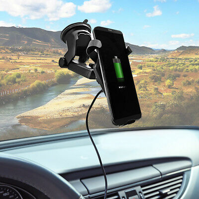 FDGAO Qi Wireless Fast Car Charger Stand Mount Holder For Samsung S9 iPhone X 8