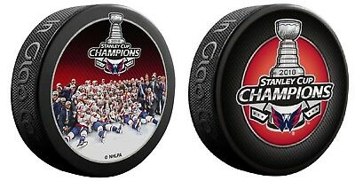 Washington Capitals Two (2) Puck Champions Set 2018 Nhl Stanley Cup Finals Champ