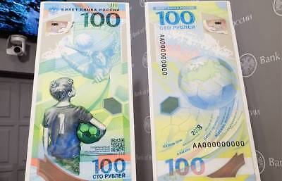 NEW!! Russia 100 Rubles 2018 FIFA World Football Cup UNC