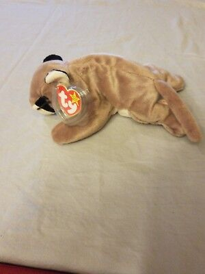 Ty Beanie Baby: Canyon the Cougar/Mountain Lion/Puma Plush FREE SHIPPING