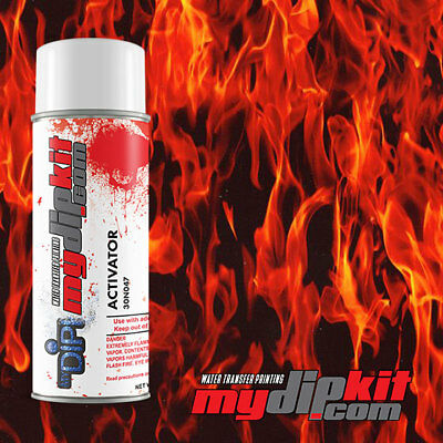 Hydrographics Activator & Hydro Dipping Transfer Film Combo True Flames LL135