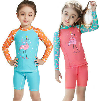 Kids Wetsuit Shorts Two Pieces for Girls 2-8 Year Swimming Suits kids swimming s