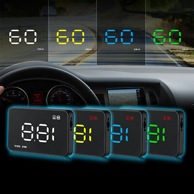 Car Head Up Display A1000 HUD Projector Speedometer MPH KM/h Speed Warning
