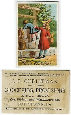 Pottstown PA CHRISTMAN GROCERY Store ACME SOAP Willie & Well No 1 Trade Card