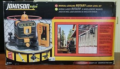 Johnson 40-6512 Manual Leveling Rotary Laser Level Kit New In Box c-y