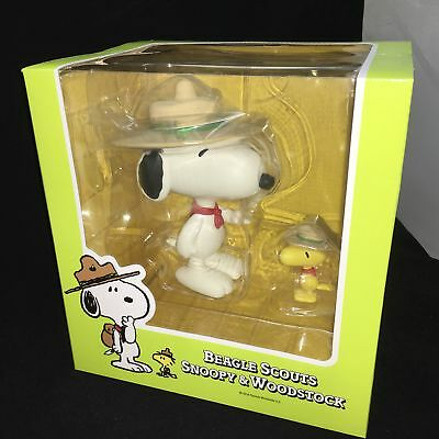 PEANUTS: Vinyl Collectible Doll Beagle Scout Snoopy & Woodstock - Medicom Toy