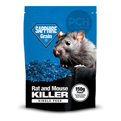 Rat Poison Strongest Rodent Killer Whole Wheat Bait Kills Rats 150g Sachet