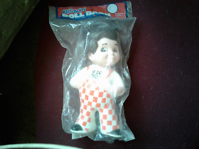 VTG Big Boy Restaurant Advertising Rubber Doll Coin Bank 1973 (Sealed in Bag)