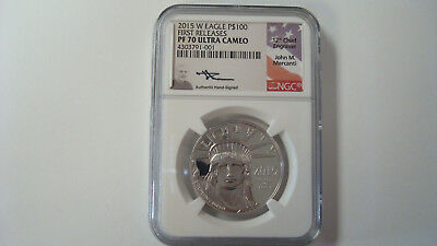 2015 W Platinum Eagle $100 1oz NGC PF70 Ultra Cameo First Releases Mercanti