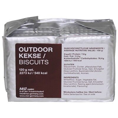 Outdoor Kekse, Panzerkekse - Outdoor Survival Prepper Camping Verpflegung