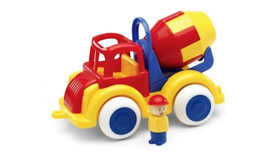 NEW Cement Mixer with One figure by Viking Toys from Purple Turtle Toys