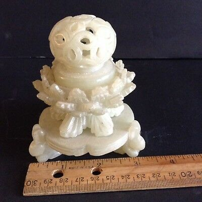 Very Rare Beautiful Hand Carved Antique Chinese Soapstone Censor