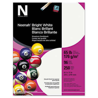 Neenah Card Stock, Letter, Bright White, 65lb, 250 Sheets *FREE SHIPPING*