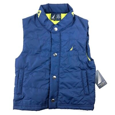 New Nautica Puffer Vest For Toddler Boys Blue Size 4T