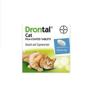 Brand New Drontal for Cats (8 Tablets) Genuine Bayer  Fast Shipping