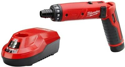 Milwaukee Cordless Screwdriver M4 4-Volt Lithium-Ion 1/4 in. Hex 1-Battery Kit