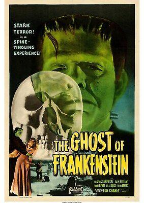 The Ghost of Frankenstein (5) - Lon Chaney Jr - A4 Laminated Mini Movie Poster