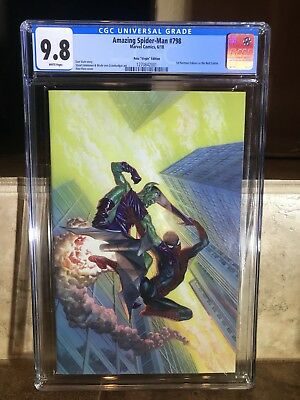 Amazing Spider-Man #798 CGC 9.8 Alex Ross Virgin 1:100 Variant 1st Red Goblin NM
