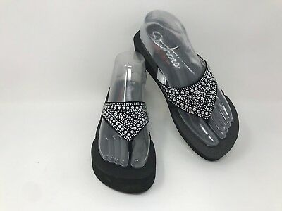 b923af32be NEW! WOMEN'S SKECHERS Vinyasa-Bindu Black/Silver Sandal SZ 8 38494 ...