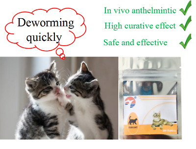 60 Tablets Cat Pet Animal Wormer Worming Tablets Dewormer