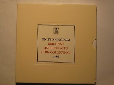 1986 United Kingdom Uncirculated Coin Collection, Royal Mint!!!  Free Shipping!!