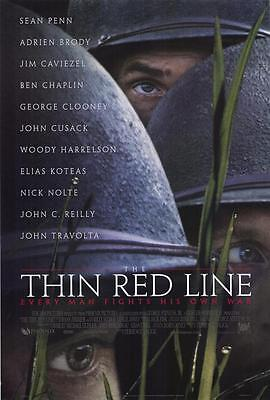 The Thin Red Line DOUBLE SIDED Original One-Sheet Movie Poster LOT OF 4