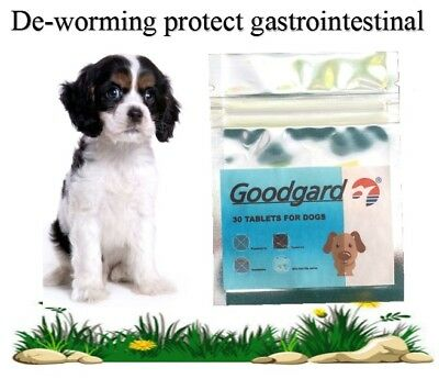 30 tabs Dog Worming tablets Wormer Dewormer similarto Droncit Tradewind Tapeworm