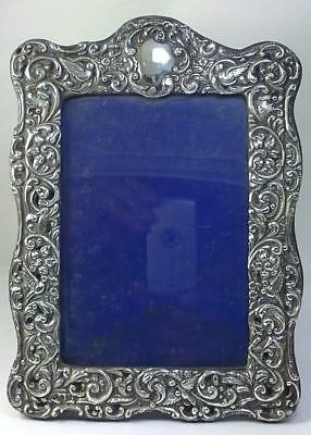 "Antique hallmarked Sterling Silver Fronted  8"" x 5.8""  Photo Frame - 1903"