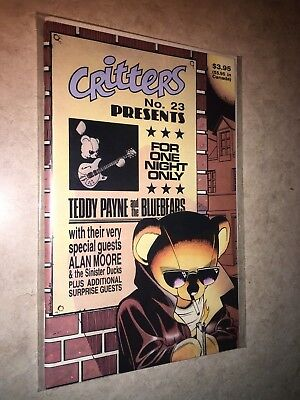 Critters 23 Fantagraphics Sam Kieth Alan Moore Sinister Ducks w/Record attached