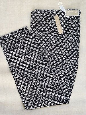 Chico's $89 Nwt Juliet Geo Ankle Pants Black / White Size 1, 1.5