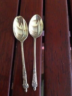 2 x EPNS APOSTLE SPOONS. ANTIQUE. VINTAGE FUNKY. POSTAGE INCLUDED VGC UNWANTED