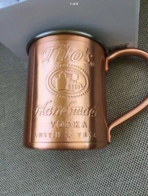 Tito's (1) Handmade Vodka Austin Texas Copper Mug Moscow Mule  Free Ship🌴🌴🌴