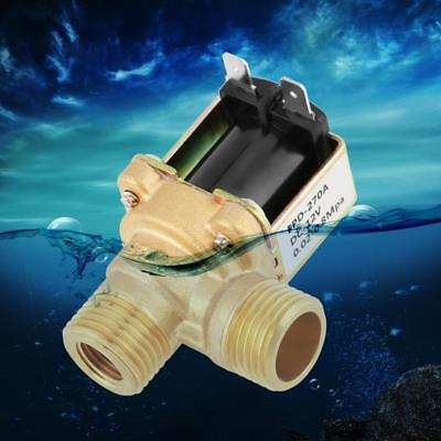 DC12V DN15 G1/2 Brass Electric Solenoid Valve N/C Water Inlet Switch with Filter