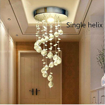 NEW Chrome Crystal LED Ceiling Lights Lamp Fitting Pendant Chandeliers 5336HC