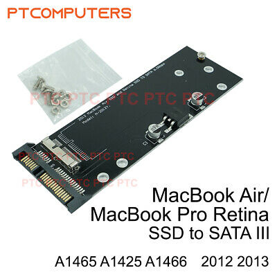 17+7Pin Apple MacBook Pro SSD to SATA III Adaptor Card for A1425 A1398 2012 2013