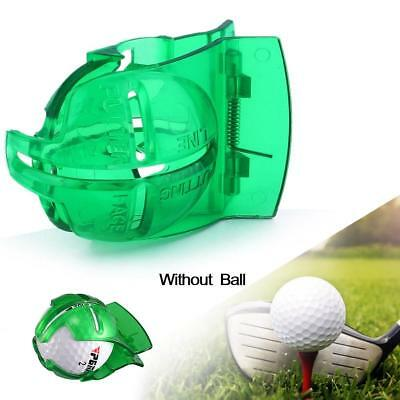 Pro Golf Ball Linear Line Marker Template Swing Drawing Alignment Tools Green BG