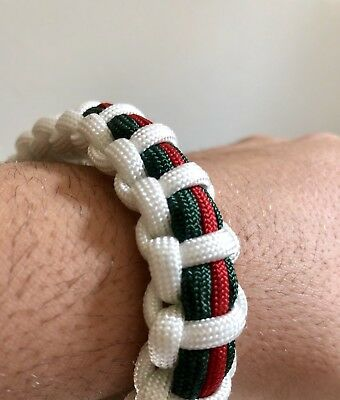 Gucci stripes Paracord Armband armkette bracelet NEU unisex Must have Gold