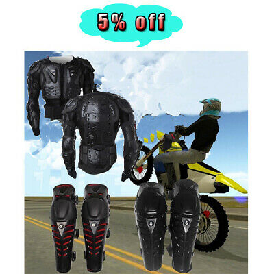Motorcycle Full Body Armor Jacket Spine Chest Protection Gear Motrocross Bike RM