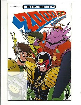 FREE COMIC BOOK DAY 2018 - 2000 AD REGENED- REBELLION, NM NEW (Bagged & Boarded)