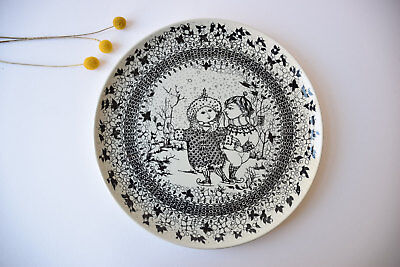 Danish Bjorn Wiinblad for Nymolle WINTER Seasons Large Hanging Wall Plate 14""