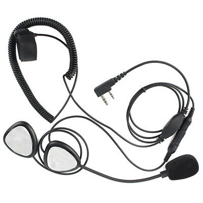 Upgrade Finger PTT Motorcycle Helmet Headset MIC for KENWOOD TYT BAOFENG UV K4X3