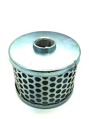 "Hose Strainer Tin-Can Type.  Female BSP Threaded.  Electro-Galvanised. 1"" to 6"""