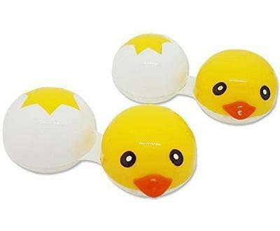 Cute Contact Lens Cases Spring Chicks ~ 2 Pack Storage Soaking Travel Cases Kit