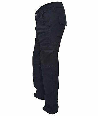 Motorcycle Mens Denim Cargo Jeans DIVALO® Extended Fiber Made with Kevlar® DuPon