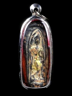 thai buddha amulet old PHRAPANG LEELA AYUTTHAYA Buddhist art gorgeous antique