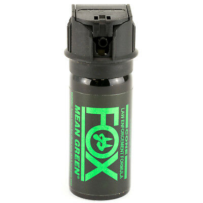 FOX LABS Mean Green HOT Tactical Police 1.5oz Flip-Top Fog Pattern Pepper Spray