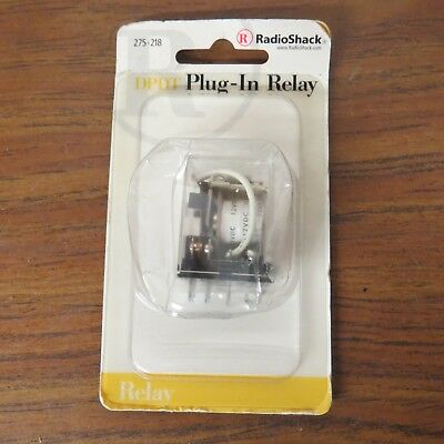 + RADIO Shack Archer 275-218 12VDC DPDT Plug-In Relay New In Factory Sealed Pack