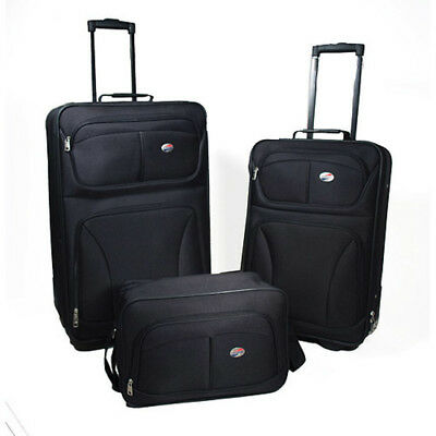 b6f9a57b5d46 American Tourister Brewster 3-Piece Luggage Set With Carry On Boarding Bag  Black