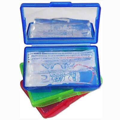 3 x Orthosil Silicone Wax ~ Relief for Orthodontic Braces, Coloured Boxes